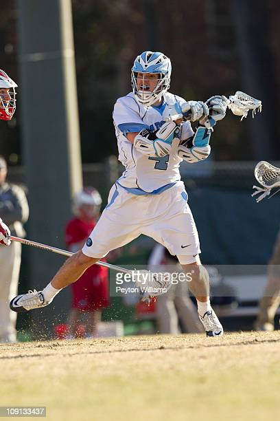 Billy Bitter of the North Carolina Tar Heels shoots the ball during a game against the Robert Morris Colonials on February 12 2011 at Fetzer Field in...