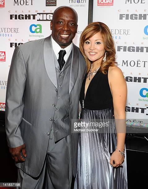 Billy Blanks and Tomoko Sato arrive at Muhammad Ali's Celebrity Fight Night XVIII held at JW Marriott Desert Ridge Resort Spa on March 24 2012 in...