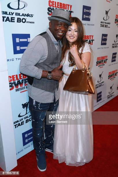 Billy Blanks and Tomoko Sato attends the 13th Annual Celebrity Sweat ESPYS After Party at The Palm Restaurants on July 12 2017 in Los Angeles...