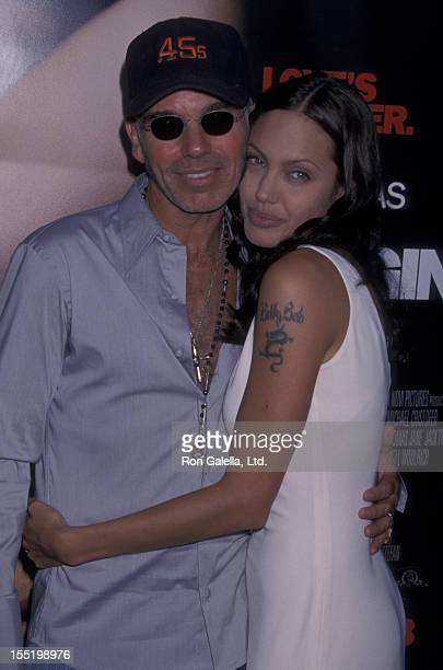 Billy Bob Thornton and actress Angelina Jolie attend the world premiere of 'Original Sin' on July 31 2001 at the Director's Guild Theater in...
