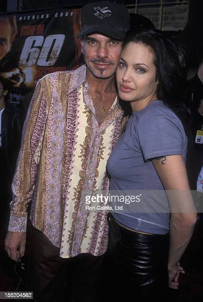 Billy Bob Thornton and actress Angelina Jolie attend the world premiere of 'Gone In 60 Seconds' on June 5 2000 at Mann Theater in Westwood California
