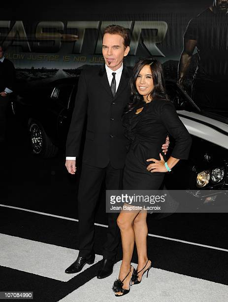Billy Bob Thornton and Connie Angland arrive at the Faster Los Angeles Premiere at Grauman's Chinese Theatre on November 22 2010 in Hollywood...