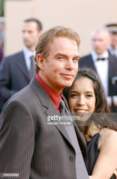 Billy Bob Thornton and Connie Angland during 2004 Cannes Film Festival Motorcycle Diaries and Bad Santa Premieres at Palais Du Festival in Cannes...