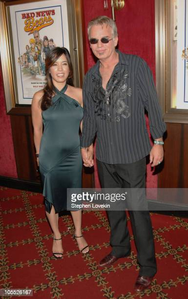 Billy Bob Thornton and Connie Angland during Bad News Bears New York City Premiere Inside Arrivals at The Ziegfeld Theatre in New York City New York...