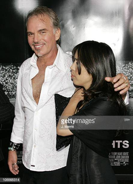 Billy Bob Thornton and Connie Angland during Friday Night Lights World Premiere at Grauman's Chinese Theatre in Hollywood California United States