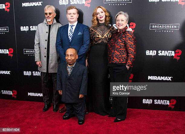 Billy Bob Thornton Brett Kelly Tony Cox Christina Hendricks and Kathy Bates attend the 'Bad Santa 2' New York Premiere at AMC Loews Lincoln Square 13...