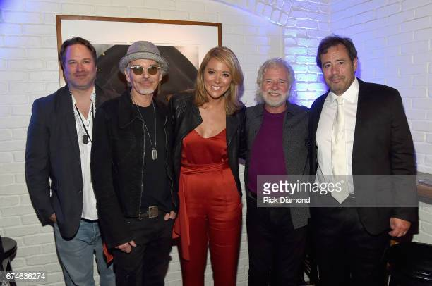 Billy Bob Thornton Brooke Baldwin Chuck Leavell and Joel Babbit attend the White House Correspondents' Jam at The Hamilton on April 28 2017 in...