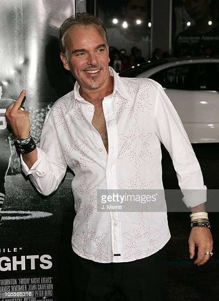 """Billy Bob Thornton during """"Friday Night Lights"""" - World Premiere at Grauman's Chinese Theatre in Hollywood, California, United States."""