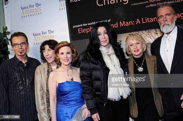 Billy Bob Thornton Lily Tomlin Kat Kramer Cher Tippi Hedren and Chris Gallucci attend Kat Kramer's Films That Changed The World Elephants And Man A...
