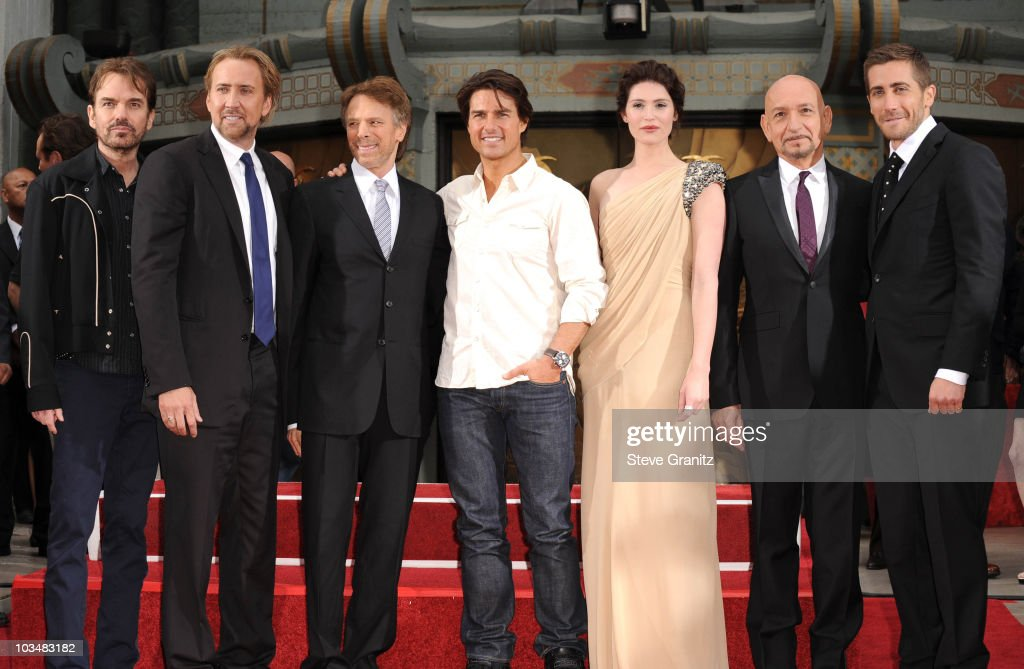 Billy Bob Thornton, Nicolas Cage, Jerry Bruckheimer, Tom Cruise, Gemma Arterton, Sir Ben Kingsley and Jake Gyllenhaal attends the Jerry Bruckheimer Hand And Footprint Ceremony at Grauman's Chinese Theatre on May 17, 2010 in Hollywood, California.