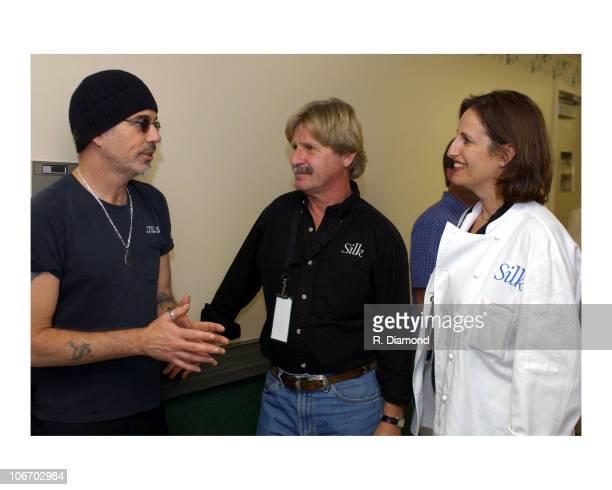 Billy Bob Thornton with Silk Soy Milk Founder and President Steve Demos and Akasha Richmon Spokesperson Silk Soy Milk