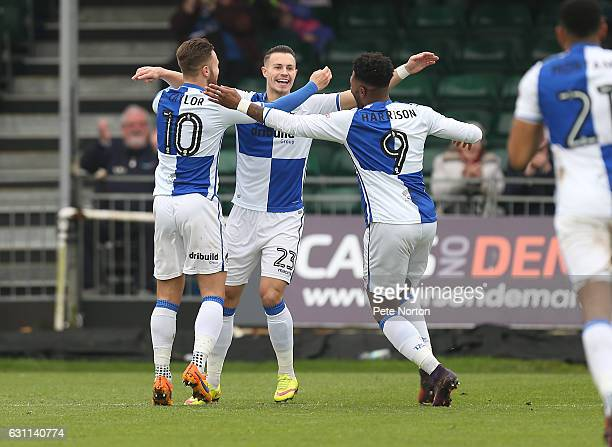 Billy Bodin of Bristol Rovers celebrates after scoring his sides first goal during the Sky Bet League One match between Bristol Rovers and...