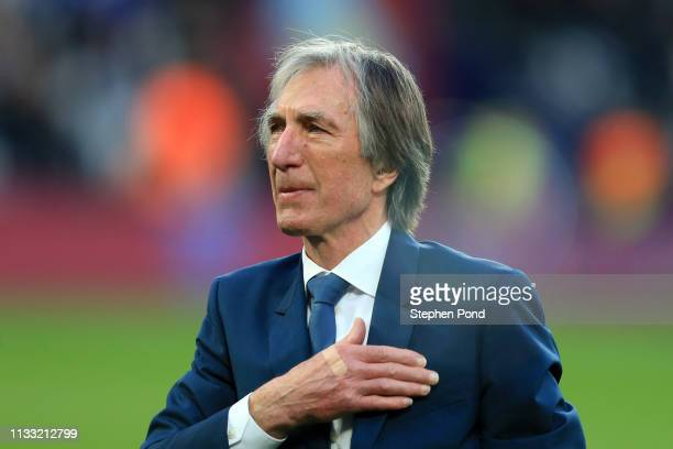 Billy Bonds acknowledges the fans prior to the Premier League match between West Ham United and Newcastle United at London Stadium on March 02 2019...