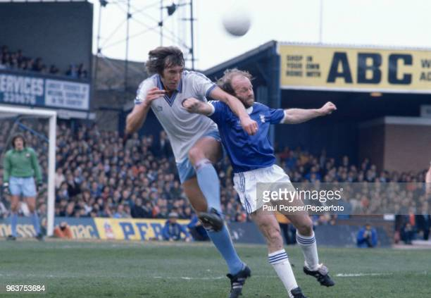 Billy Bonds of West Ham United and Archie Gemmill of Birmingham City battle for the ball during the Football League Division Two match at St Andrews...