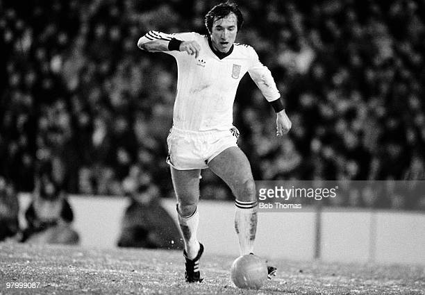 Billy Bonds of West Ham United in action against Liverpool during the Football League Milk Cup 5th round match held at Anfield Liverpool on 18th...