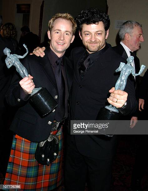 Billy Boyd and Andy Serkis of 'The Lord of the Rings The Return of the King' winners for Outstanding Cast in a Motion Picture