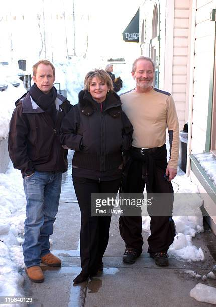 Billy Boyd Brenda Blethyn and Peter Mullan cast of 'One Clear Day'