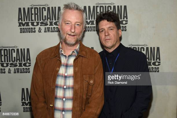 Billy Bragg and Joe Henry attend the 2017 Americana Music Association Honors Awards on September 13 2017 in Nashville Tennessee