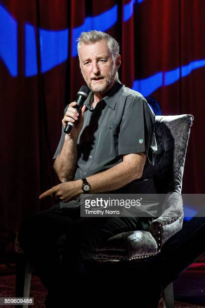 Billy Bragg speaks during Roots Radicals and Rockers How Skiffle Changed the World With Billy Bragg at The GRAMMY Museum on October 9 2017 in Los...