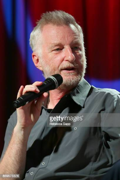 Billy Bragg speaks onstage at Roots Radicals and Rockers How Skiffle Changed the World With Billy Bragg at The GRAMMY Museum on October 9 2017 in Los...