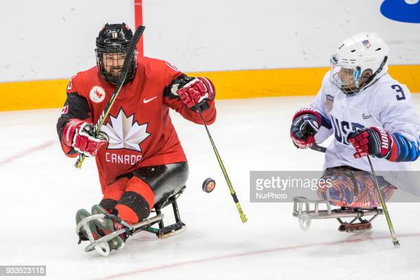 Billy BRIDGES and Ralph DEQUEBEC during The Ice Hockey gold medal game between Canada and United States during day nine of the PyeongChang 2018...