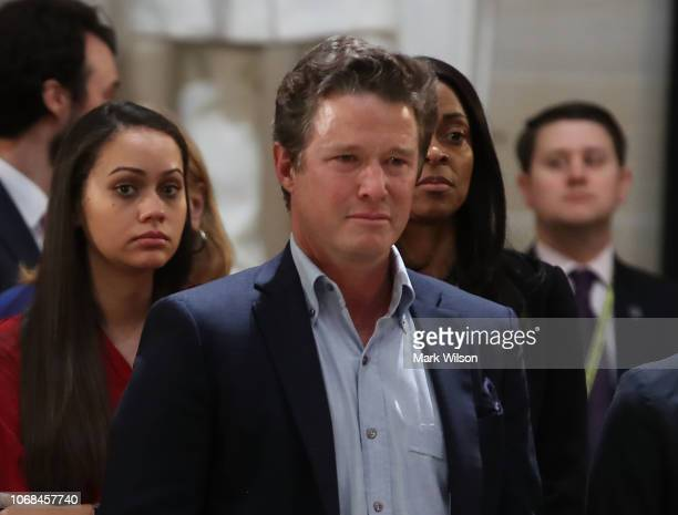 Billy Bush and Bush extended family members pay their respects in front of the casket of the late former President George HW Bush as he lies in state...