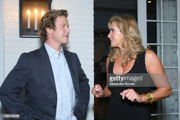 Billy Bush and Janet Crown at The Lollipop Theater Network's Game Day 2009 Sneak Peek Event held at The Home of Janet Crown on September 16 2008 in...