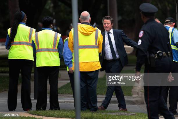 Billy Bush arrives for the funeral of former first lady Barbara Bush at St Martin's Episcopal Church on April 21 2018 in Houston Texas Bush wife of...