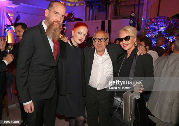Billy Bush Shirley Manson Michael Nyman and Amanda Eliasch attend the Liberatum Mexico Festival 2018 Opening Night dinner at Museo de Arte Popular on...