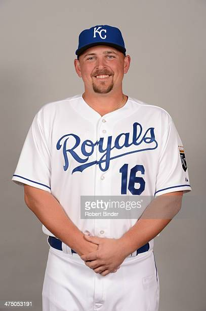 Billy Butler of the Kansas City Royals poses during Photo Day on Monday February 24 2014 at Surprise Stadium in Surprise Arizona
