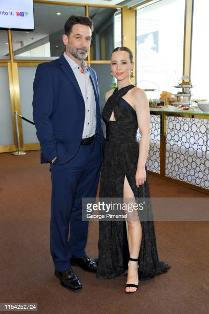 Billy Campbell and Karine Vanasse attend the CTV Upfront 2019 at Sony Centre For Performing Arts on June 06 2019 in Toronto Canada