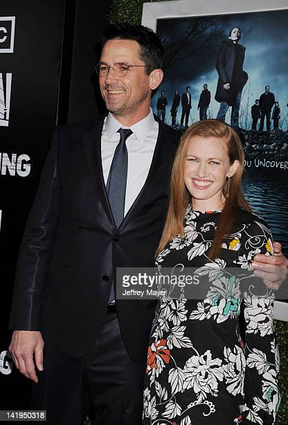 Billy Campbell and Mireille Enos arrive at AMC's 'The Killing' Season 2 Los Angeles Premiere at ArcLight Cinemas on March 26 2012 in Hollywood...
