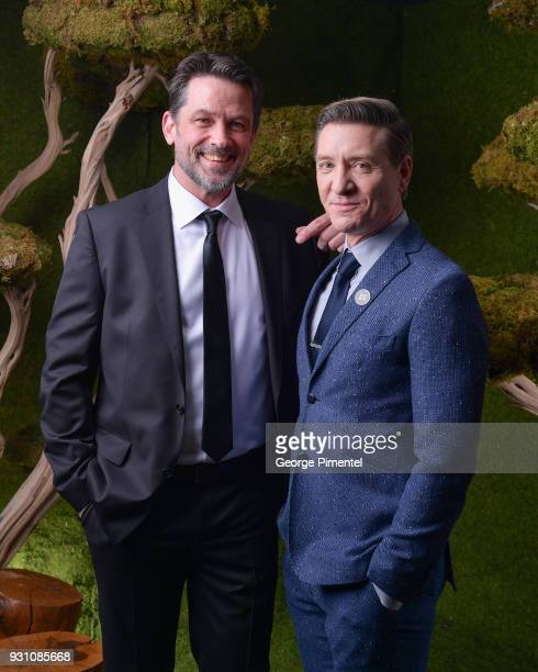 Billy Campbell and Shawn Doyle pose in the 2018 Canadian Screen Awards Broadcast Gala Portrait Studio at Sony Centre for the Performing Arts on March...