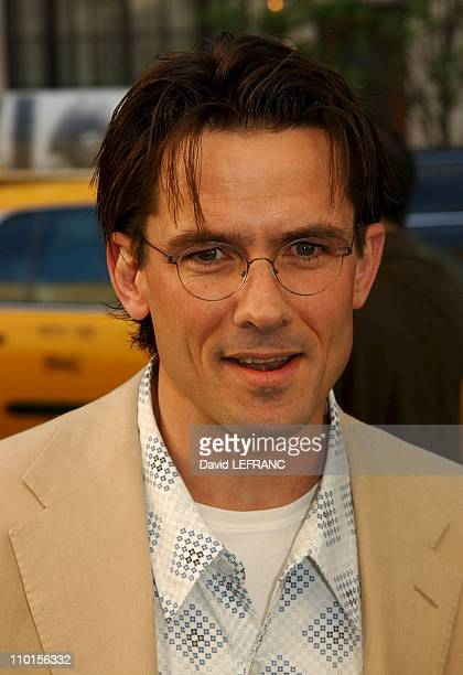 Billy Campbell at the premiere of Woody Allen's new movie 'Hollywood Ending' held at the Chelsea West Theatre in New York United States on April 23...