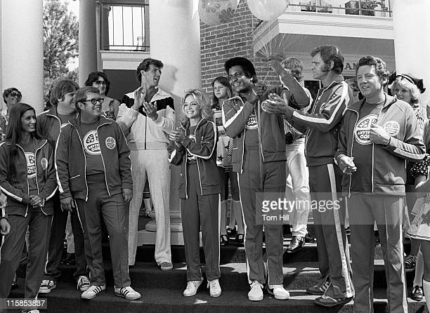 Billy Carter brother of President Jimmy Carter unidentified TV host and singers Barbara Mandrell Charley Pride Jerry Reed and Jerry Lee Lewis on the...