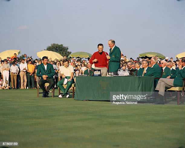 Billy Casper at the Presentation Ceremony after the 1970 Masters Tournament at Augusta National Golf Club on April 13 1970 in Augusta Georgia
