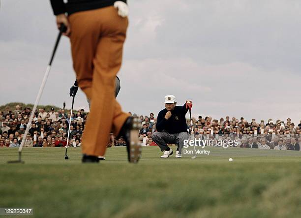 Billy Casper of the United States during the Four ball competition of the 20th Ryder Cup Matches on 20th September 1973 at The Muirfield Golf Club in...