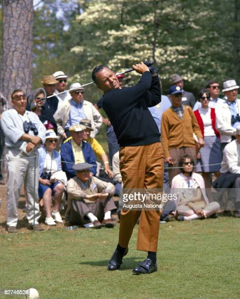 Billy Casper tees off during the 1966 Masters Tournament at Augusta National Golf Club held April 711 1966 in Augusta Georgia