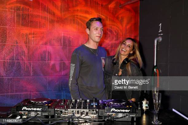 Billy Clark and Louise Redknapp attend KOBOX New Flagship studio launch party on King's Road on May 16 2019 in London England