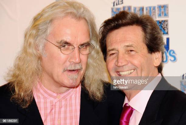 Billy Connolly and Melvyn Bragg attend The South Bank Show Awards at the Dorchester on January 26 2010 in London England