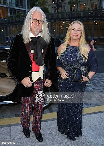 Billy Connolly and Pamela Stephenson arrive in an Audi at the GQ Men of the Year Awards at the Tate Modern on September 7 2016 in London United...