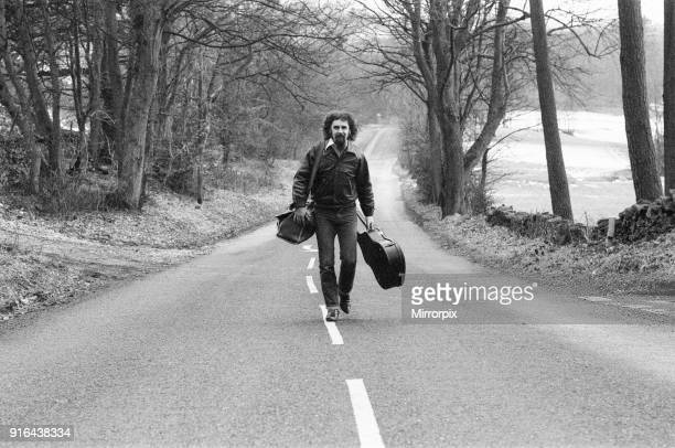 Billy Connolly traveling in the North West of England as part of his 64 date Big Wee Tour of Britain February 1979