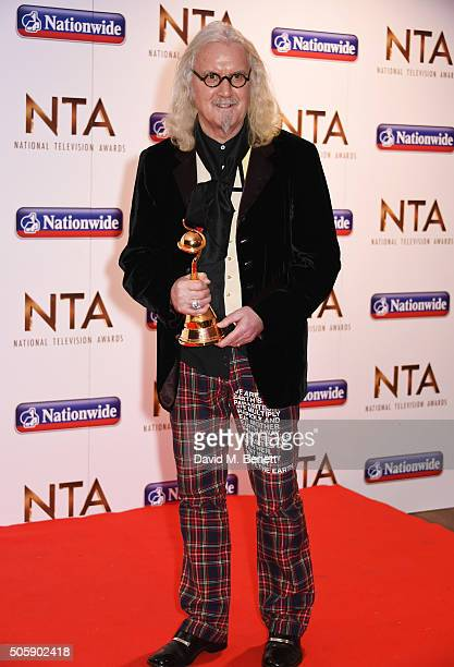 Billy Connolly, winner of the Special Recognition award, poses in the winner's room at the 21st National Television Awards at The O2 Arena on January...