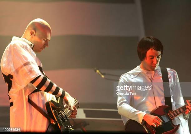 Billy Corgan and Jeff Schroeder of Smashing Pumpkins