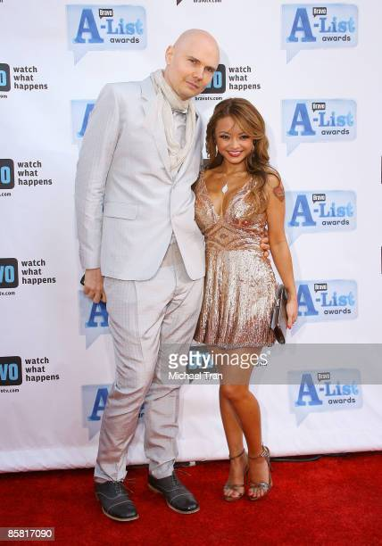 Billy Corgan and Tila Nguyen arrive to Bravo's 2nd Annual AList Awards held at The Orpheum Theatre on April 5 2009 in Los Angeles California