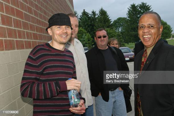 Billy Corgan arrives and is greeted by David Sears Senior Director Education Programs for the GRAMMY Foundation