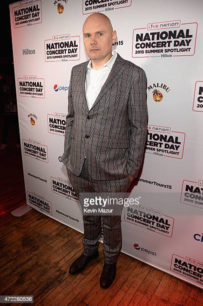 Billy Corgan arrives as Live Nation Celebrates National Concert Day At Their 2015 Summer Spotlight Event Presented By Hilton at Irving Plaza on May 5...