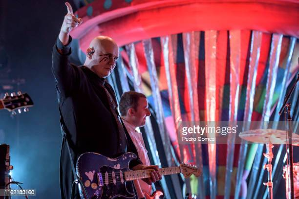 Billy Corgan from The Smashing Pumpkins performs on the NOS stage on day 3 of NOS Alive festival on July 13 2019 in Lisbon Portugal