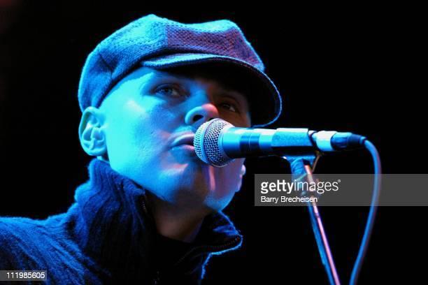 Billy Corgan live during Q101's Jamboree 2002 at Tweeter Center in Tinley Park Illinois United States