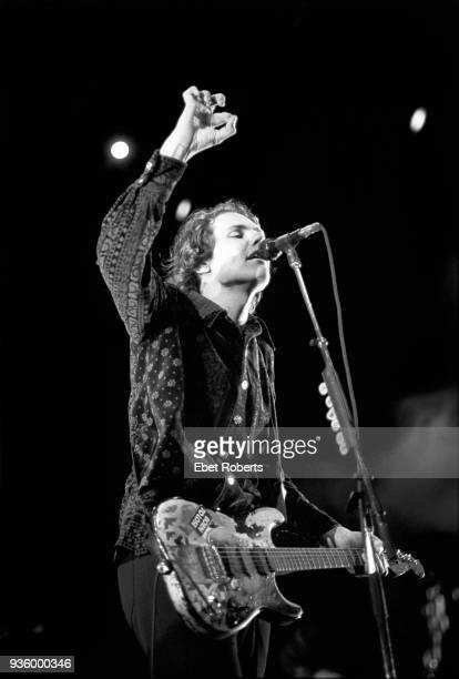 Billy Corgan of Smashing Pumpkins performing at Lollapalooza '94 at Downing Stadium on Randall's Island New York City on August 6 1994